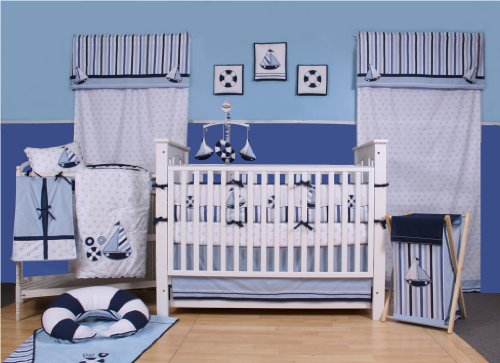Little Sailor 10 pc Crib Set (Sailboat Crib Mobile compare prices)