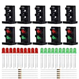 #2: Evemodel JTD25 10 Sets Target Faces with LEDs for Railway Dwarf Signal O Scale 2 Aspects