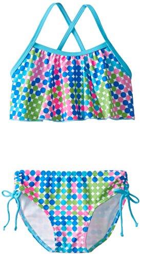 (Kanu Surf Toddler Girls' Karlie Flounce Bikini Beach Sport 2-Piece Swimsuit, Nikki Blue Dot, 2T)