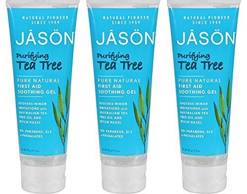 JASON Purifying Tea Tree First Aid Soothing Gel, 4 ounce., 3-Pack