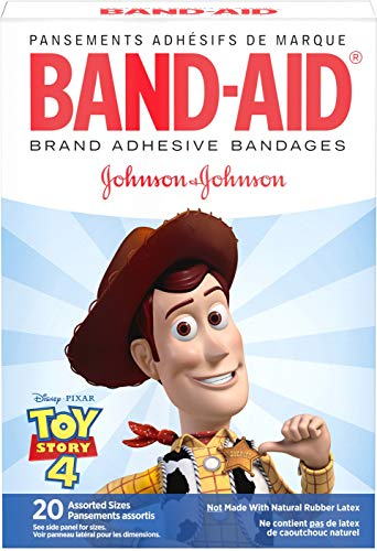 Band-Aid Brand Adhesive Bandages, Disney/Pixar Toy Story 4, Assorted Sizes, 20 ea (Pack of 3)