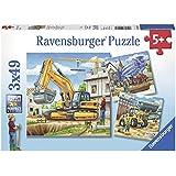 Ravensburger - 09226 0 - Puzzle - Grands Véhicules De Construction - 3 x 49 Pièces