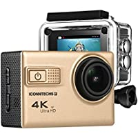 Action Camera for Sports Photography | UHD 4K/24fps, 1080P/60fps, IMX078 Sensor, 70-170 Wide Angle Lens, Waterproof up to 30m by ICONNTECHS IT