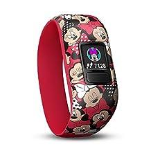 Garmin 010-01909-00 Vivofit Jr. 2-Stretchy Minnie Mouse Fitness GPS