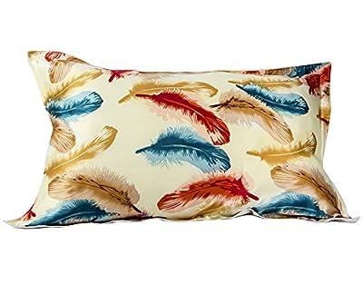 IBraFashion Silk Pillowcase for Hair and Skin Beauty Floral Print Standard/Queen