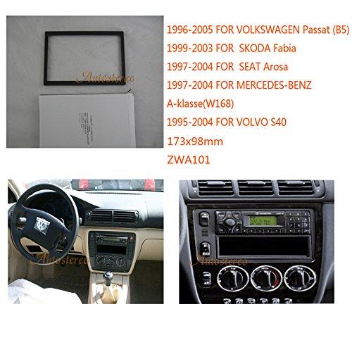 Autostereo Car Stereo Radio Fascia Facia Panel for MERCEDES-BENZ VOLKSWAGEN Passat Stereo Fascia Dash CD Trim Installation Kit MERCEDES-BENZ VOLKSWAGEN Volvo S40 Skoda Seat