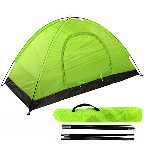 Reliancer 1 Person Backpacking Tent 2 Doors and Vestibules(Lawngreen)