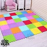FB FunkyBuys 20Pcs Multicolor Puzzled EVA Soft Foam Kids Play Area Mat 20SQ.FT Interlocking Tiles 30x30cm