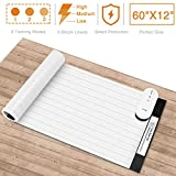 BOIFUN Pet Training Mat, 60 x 12 Inches Pet Scat Shock Mat for Dogs & Cats, 3 Adjustable Shock Levels Keep Pets Off Couch, Dog Deterrent Mat