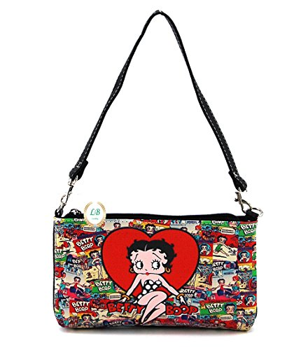 Betty Boop Cosmetic Bag, Plus Key Chain (Big Heart)