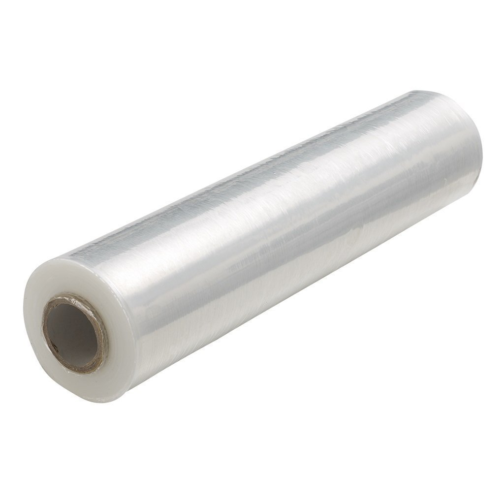 amazoncom uline cling wrap lightweight 1500 ft hand wrap stretch film 18 inch roll office products - Stretch Wrap Film