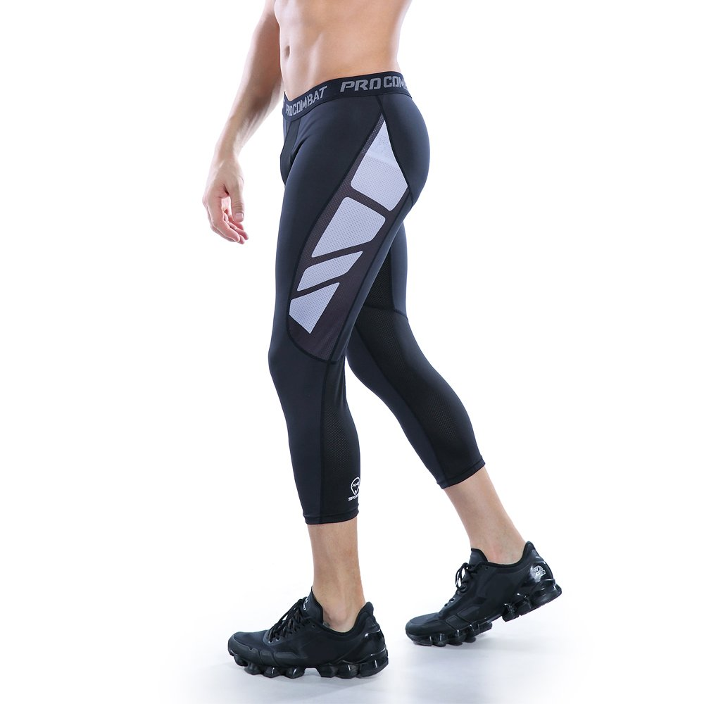 AMZSPORT Leggings Compression da Uomo Sport Baselayer Asciugatura Rapida Pantaloni ALL-SEASON