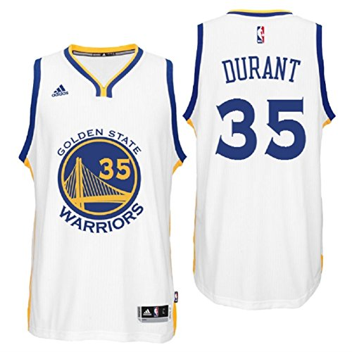 adidas Kevin Durant Golden State Warriors NBA Home Climacool Swingman Jersey for Men (Large)