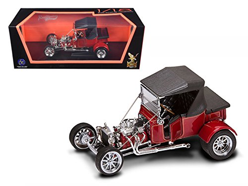 Road Signature 92829 1923 Ford T-Bucket Soft Top Burgundy 1/18 Diecast Car Model