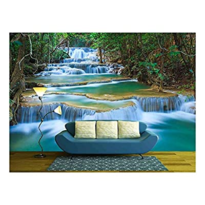 Dazzling Piece, Deep Forest Waterfall in Kanchanaburi Thailand, Made With Top Quality