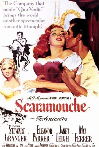 SCARAMOUCHE Movie POSTER 27x40 Stewart Granger Eleanor Parker Janet Leigh Mel