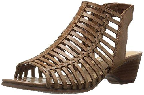 Bella Vita Womens Pacey Wedge Sandal Camel Burnish
