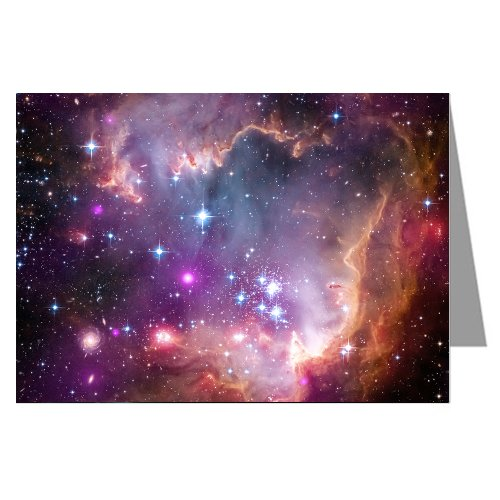 Single Greeting Card of the Small Magellanic Cloud, From Nasa Hubble and Spitzer Space ()