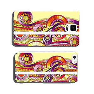 Set of abstract doodle tribal vector cards. cell phone cover case Samsung S5