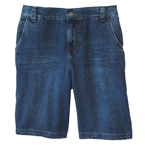 Daniel Jacob Big Boys' Husky Denim Carpenter Shorts 1/2 Elastic (10H, Dark - Shorts Carpenter Boys