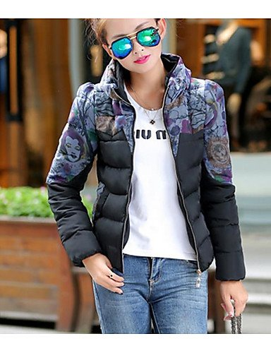TT Long Cotton Down Acrylic Going Women's Striped amp;SHANGYI out Sleeves Active Solid xl Simple Polypropylene Print Others Coat FUnrFZSf