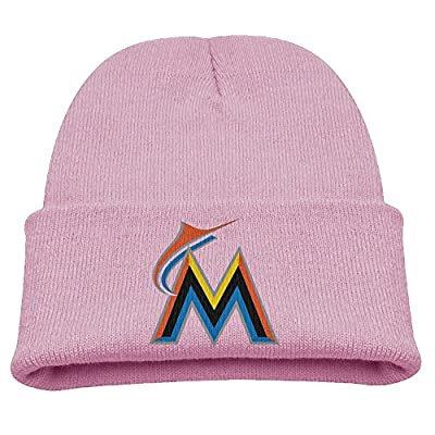ACMIRAN Miami M Logo Marlins Funny Warm Cap One Size Pink