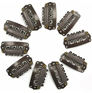 Amazon clip for hair extension 30mm snap clip for diy use tanya 50pcs brown snap clips u shape metal clips for hair extensions diy pmusecretfo Choice Image