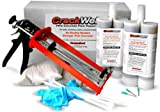CrackWeld PRO Concrete Floor Repair Kit – Seal Cracks In A Basement Floor, Driveway, Garage, Patio, Pool Deck