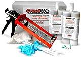 CrackWeld PRO Concrete Floor Repair Kit – Seal Cracks In A Basement Floor, Driveway, Garage, Patio, Pool Deck