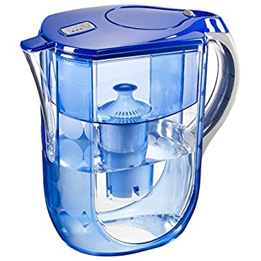 Brita Grand Water Filter Pitcher, Blue Bubbles, 10 Cup- Discontinued By Manufacturer
