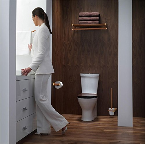 YuanDa Toilet Paper Holder Made of Ecological Wood Tissue Holder with Metal Core Wooden Appearance by YuanDa (Image #6)