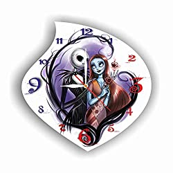 FBA The Nightmare Before Christmas 11.4'' Handmade Wall Clock - Get unique décor for home or office - Best gift ideas for kids, friends, parents and your soul mates