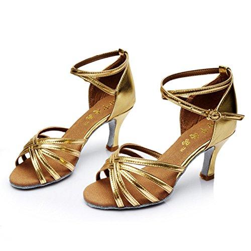 Des Mädchens Der Frauen Professional Latin Schuhe Obermaterial Satin Sandalen Salsa / Ballroom Dance Schuh Med (weitere Farben) B