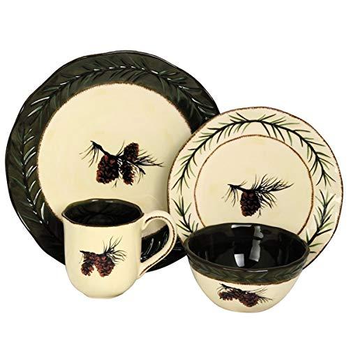 Pine Cone Dinnerware 4 Piece Mug Set by HiEnd Accents
