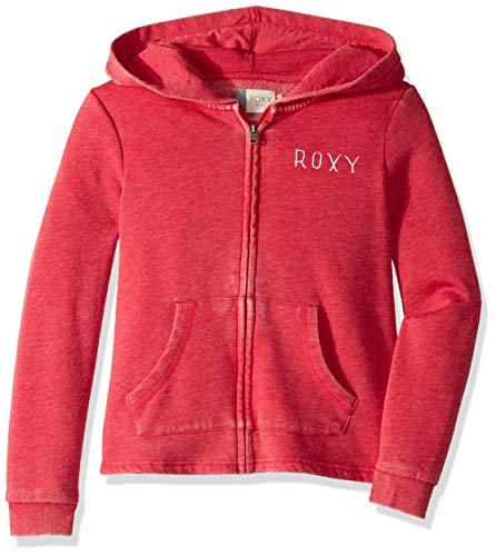 (Roxy Girls' Big Mask and Snorkels Zip-Up Sweatshirt, Barberry, 8/S)