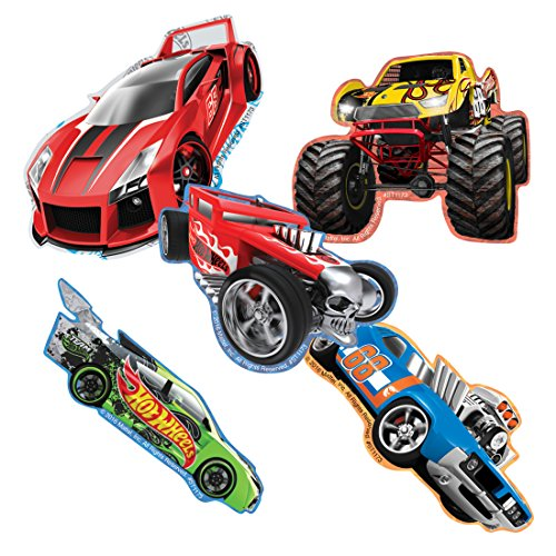 SmileMakers Shaped Hot Wheels Stickers - Prizes 100 per Pack (Hot Stickers Cars Wheels)