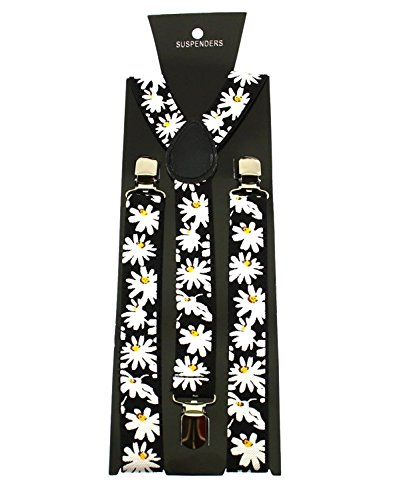 Zac's Alter Ego Women's Adjustable 25Mm Width Daisy Print Braces/ Suspenders