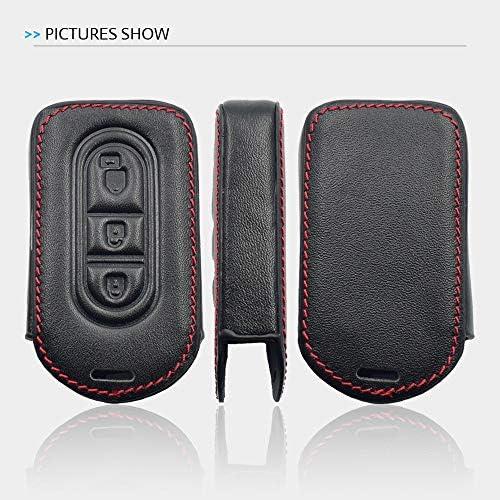 Autosleutel Case, voorNissan Duke Navara Micra Xtrail Qashqai Juke 3 Knoppen Afstandsbediening Fob Cover Sleutelhanger Tas Auto-accessoires 5.0