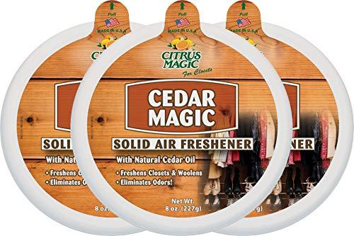 Citrus Magic Solid Air Freshener Cedar, Pack of 3, 8-Ounces ()