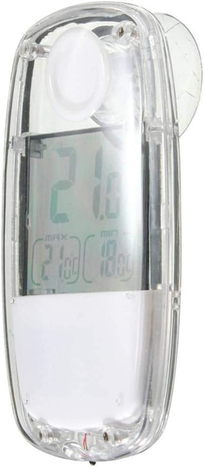 kongnijiwa LCD Digital Solar Power Window digital thermometer Suction cup Thermometer Suction Cup Temperature Meter for Indoor Home Car