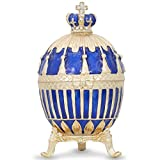 1885 Blue Enamel Ribbed Russian Faberge Egg