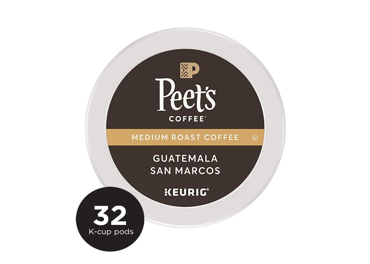 Peet's Coffee Single Origin Guatemala, Medium Roast, 32 Count Single Serve K-Cup Coffee Pods for Keurig Coffee Maker