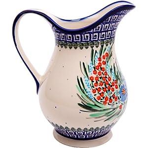 Polish Pottery Ceramika Boleslawiec 0204/169 Pitcher K, 4-1/4 Cup