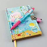Floss & Rock Mermaid Lockable Diary With Snifty Scented Pen Bubblegum