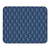 Boszina Mouse Pads Abstract Simple Pattern with Circles Separated by Dots on Two Parts Half of Filled with Lines Trendy Mouse Pad for notebooks,Desktop Computers mats 9.5'' x 7.9'' Office Supplies
