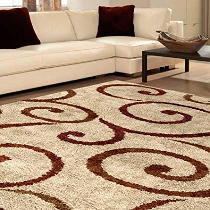 Amazon Com Better Homes Gardens Swirls Soft Shag Area Rug Runner