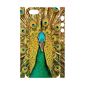 T-TGL(RQ) Iphone 5/5S 3D Personalized Phone Case Peacock with Hard Shell Protection