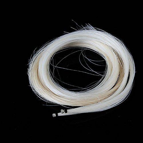2pcs 32 Blanc Crin pour violon Viola Bow Hair Cirque ZIJIA H125-L8