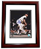 Denny McClain Signed - Autographed Detroit Tigers 8x10 inch Photo MAHOGANY CUSTOM FRAME - Guaranteed to pass or JSA with 31-6, 1968 Inscription - PSA/DNA Certified