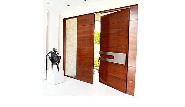 188 Massive sólido tirador Bar de acero inoxidable puerta handlesets SUS304 Modern entrada Entrada Comercial tienda frente madera madera cristal aluminio puerta Tire Empuje asas: Amazon.es: Bricolaje y herramientas